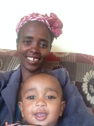 Ethiopian Mother and Son in Ethiopian